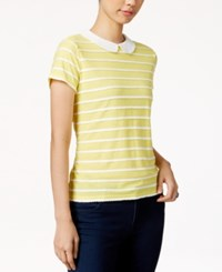 Maison Jules Striped Collar Top Only At Macy's Sunray Combo