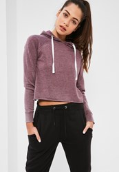 Missguided Purple Washed Hoodie Plum