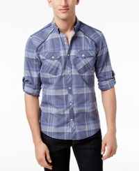 Inc International Concepts Men's Dual Pocket Plaid Shirt Only At Macy's Inkberry