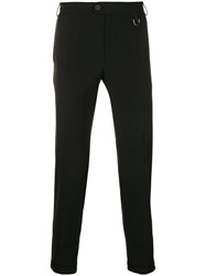 Les Hommes Slim Fit Tailored Trousers Black