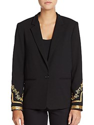 Abs By Allen Schwartz Embellished Blazer Black