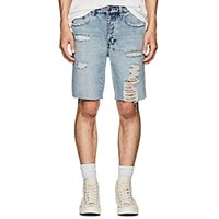 Ksubi Axel Distressed Denim Shorts Blue
