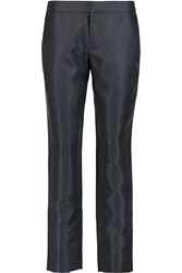 Raoul Satin Twill Straight Leg Pants Blue