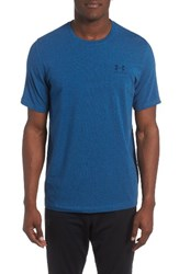 Under Armour Men's 'Sportstyle' Charged Cotton Loose Fit Logo T Shirt Blackout Navy Steel