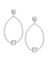 Saks Fifth Avenue Crystal And Sterling Silver Teardrop Earrings