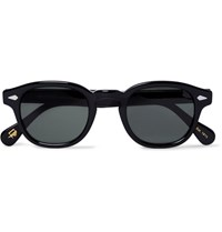 Moscot Lemtosh Round Frame Acetate Sunglasses Black