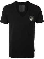 Philipp Plein V Neck T Shirt Black