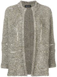 Gianluca Capannolo Tinsel Effect Jacket Gold