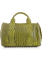 Alexander Wang Rocco Neon Textured Leather Tote Yellow
