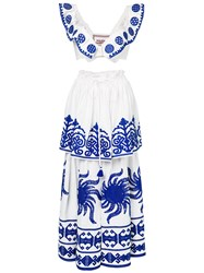Yuliya Magdych Queen Of The Sun Top And Skirt Linen Flax White