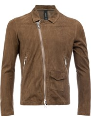 Giorgio Brato Slim Fit Biker Jacket Brown