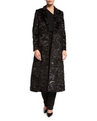 Co Long Velvet Jacquard Evening Topper Black