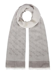Guess Jacqui Scarf With All Over Logo Ice