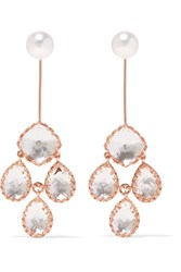 Larkspur And Hawk Antoinette Girandole Rose Gold Dipped