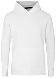 John Elliott Co Villain White Hooded Cotton Sweatshirt