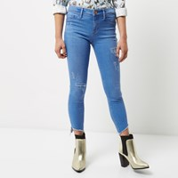 River Island Womens Petite Bright Blue Molly Jeggings