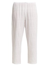 Skin Nicolette Textured Cotton Pyjama Bottoms White