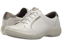 Aravon Bromly Oxford Silver Women's Lace Up Casual Shoes