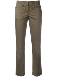 Dondup Flared Cropped Trousers Green