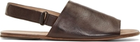 Marsell Brown Leather Slingback Sandals