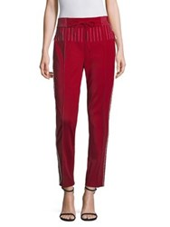Valentino Athleisure Track Pants Red