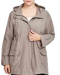 Eileen Fisher Plus Hooded Military Jacket