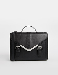 Asos V Bar Satchel Bag Black