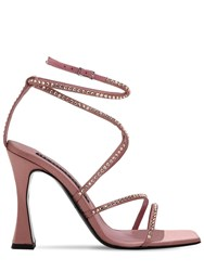 Les Petits Joueurs 100Mm Camelia Satin Sandals W Crystals Nude