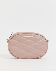 Lipsy Quilted Bumbag Cross Body In Pink