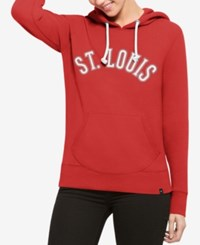 47 Brand '47 Women's St. Louis Cardinals Shimmer Cross Check Hooded Sweatshirt Red