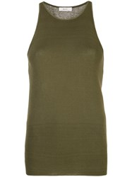 A.L.C. Racerback Tank Top Green