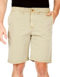 Lucky Brand Flat Front Twill Shorts Beige