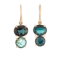 Irene Neuwirth Green Tourmaline Double Drop Earrings