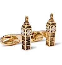 Paul Smith Big Ben Gold And Silver Tone Cufflinks