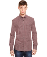 Kenneth Cole New York Checkered Print Button Down Shirt