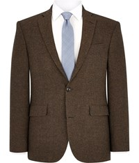 Austin Reed Brown Herringbone Wool Jacket