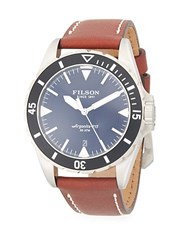 Filson Dutch Harbor Stainless Steel And Leather Strap Watch