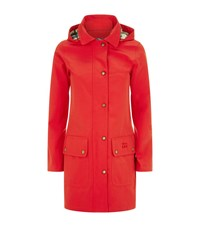 Barbour Gustnado Hooded Technical Jacket Female Red