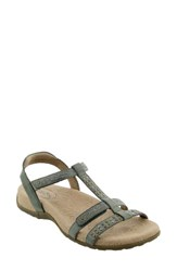 Taos Women's Award Sandal Vintage Green Leather