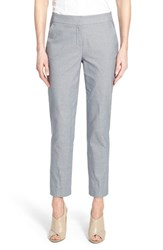 Women's Nordstrom Collection Stretch Cotton Slim Ankle Pants