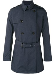 Michael Kors Belted Trench Coat Blue