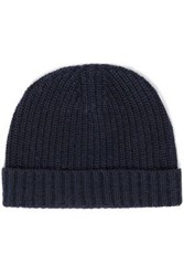 Autumn Cashmere Ribbed Knit Beanie Navy