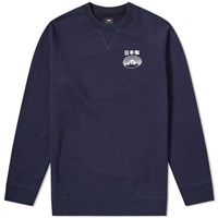 Edwin Fuji San Raglan Sweat Blue