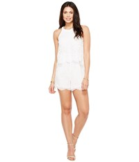 Lilly Pulitzer Edona Romper Resort White Marine Tropic Lace Women's Jumpsuit And Rompers One Piece