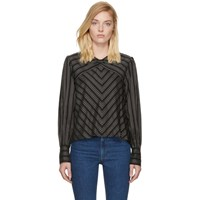 Isabel Marant Black And White Striped Val Blouse