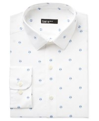 Bar Iii Men's Slim Fit Owl Print Dress Shirt Only At Macy's White