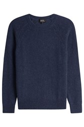 A.P.C. Merino Wool Pullover With Alpaca Blue