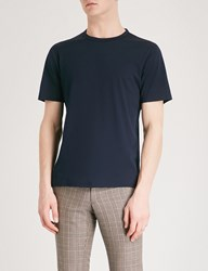 Gieves And Hawkes Crewneck Cotton Jersey T Shirt Navy