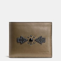 Coach Western Rivets 3 In 1 Wallet In Sport Calf Leather Fatigue