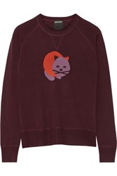 Anna Sui James Coviello Cat Intarsia Wool Blend Sweater